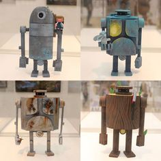 Amanda Visell x Timed Releases on Oct Diy Robot, Robot Art, Character Inspiration, Character Design, Diy Toys, Toy Diy, Steampunk Robots, Textile Sculpture, Ashley Wood