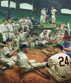 MLB Baseball's Greatest All-Stars, United States, by Jamie Cooper. Baseball Tips, Baseball Pictures, Baseball Art, Baseball Games, Baseball Jerseys, Baseball Stuff, Baseball Tickets, Baseball Classic, Cyo Basketball