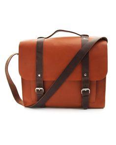 75ad44c29ee4 Josef Cognac Leather Messenger Bag