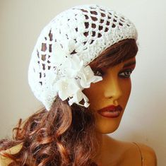 Excited to share this item from my shop: Bride White Hat, Bride Hat, Lace Wedding Hat, White Formal Hat, Wedding H Girl Beanie, Beanie Hats, Wedding Hats, Lace Wedding, Elegant Wedding, Wedding Ideas, Fascinator, Bridal Hat, Lace Gloves