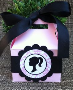 Barbie Inspired Party Favor Box Set of 12 by KristinesCreationsSD, $24.00