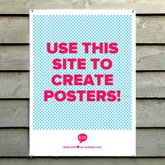 Create posters