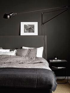 Zwarte slaapkamer inspiratie | Slaapkamer ideeën