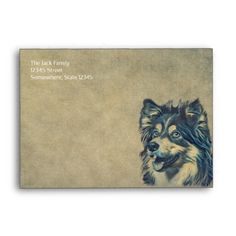 Shop Shetland Sheepdog Painting Custom Envelope created by ReadyCardCard. Custom Printed Envelopes, Addressing Envelopes, Shetland Sheepdog, Thank You Notes, Address Labels, Stationery, Greeting Cards, Lettering, Prints