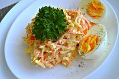 Russian Recipes, Salad Recipes, Cabbage, Salads, Spaghetti, Food And Drink, Appetizers, Cooking Recipes, Eggs