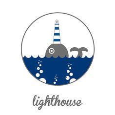 Dream lighthouse #lighthouse #sea #beach #summer #faro #whale #creative #balena #logotype #logo #art #stone #flatdesign #cliff #fish #vegan #food #claudiachieffo #vsco