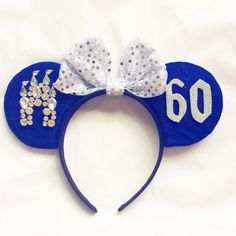 60th Diamond Anniversary Mouse Minnie Ears by AnnasBoutiques