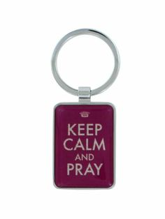 Keep Calm and Pray Keyring #KEP016 | Wholesale Accessory Market