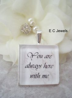 Memorial Keepsake Bouquet Charm by ElegantChicJewel on Etsy. , via Etsy.
