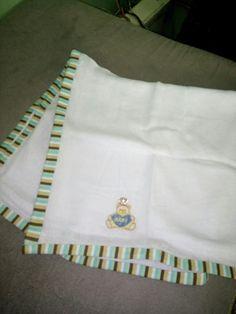 Fralda com barra de tecido