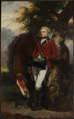 1782 Captain George K.H Coussmaker(1759-1801) by Sir Joshua Reynolds. He entered the military in 1776 but never saw active service though he was promoted several times before retirement in 1795.