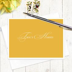 personalized stationery set  ELEGANT INITIALS  set of by naomilynn