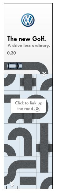 VW Golf-Banner ad  http://digitalsynopsis.com/volkswagen-golf-australia-launch/