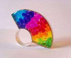 """Silver Resin Ring """"Lúcida Cromia"""""""