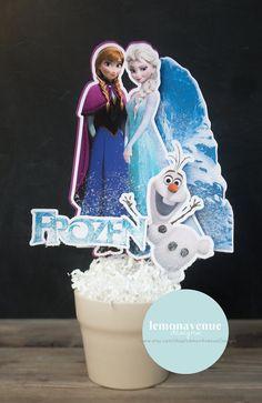 Frozen Centerpiece 2 Frozen Centerpieces Elsa by LemonAvenueDesign, $15.00
