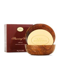 The Art of Shaving Shaving Soap with Wooden Bowl, Sandalwood Gifts for Guys! #mensgrooming