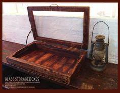 Glass Case アンティーク アームヒンジ 蝶番 ガラスケース 古材 収納 インテリア 雑貨 家具 Antique ¥45000yen 〆05月24日