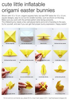 50 Ideas For Origami Tutorial Bunny Crafts Bunny Origami, Origami Ball, Origami Love, Useful Origami, Origami Design, Diy Origami, Origami Flowers, Origami Tutorial, Origami Hearts