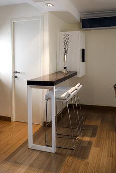 una barra de cocina