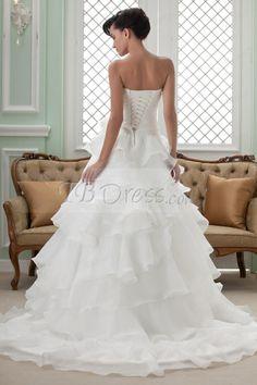 Fabulous Princess/A-line Sweetheart Chapel Tiered Wedding Dress : Tbdress.com
