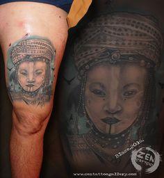 African tribe girl; tattoo by Blaze birds are fresh, rest is healed... www.facebook.com/zentattoozagreb