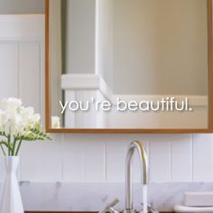 You're Beautiful mirror decal you're beautiful wall decal on Etsy, $5.70