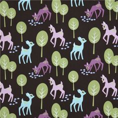 Michael Miller fabric Pet Deer deers in the forrest 2 for my DIY #sewing w #kids