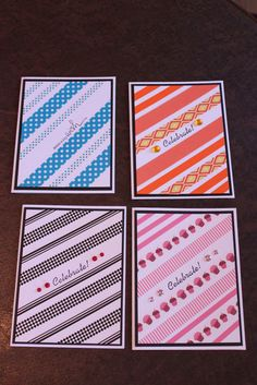 Washi tape - birthday cards I've recently discovered washi tape and I'm loving it!