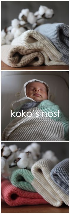 The only baby blanket you need   Modern Heirloom Baby Blanket, 100% Egyptian Cotton, Made in USA