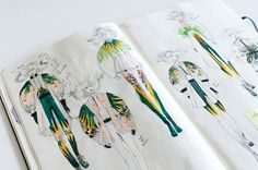 Connie Lim - fashion illustration 's sketches on Fashionary!! You can see her amazing sketching in the St Martins Design Degree Show Exhibition.