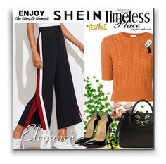 """""""Shein"""" by lale-2 ❤ liked on Polyvore featuring Miu Miu, Charlotte Olympia, Christian Louboutin and WALL"""
