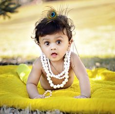 Little Krishna by Natasha S Cute Baby Boy Images, New Baby Pictures, Cute Kids Pics, Newborn Baby Photos, Cute Baby Pictures, Baby Boy Photos, Little Krishna, Baby Krishna, Cute Krishna