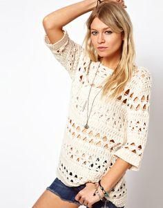 ASOS Crochet Slouch Sweater