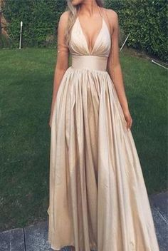 Hater V Neck Long Elegant Prom Dress Evening Gowns Party Dresses LD246