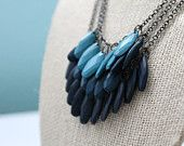 Blue fall ombre statement necklace-Love this!!!!!