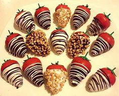 red velvet strawberries! I am so making these!!