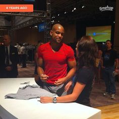 Awwww I love timehop!!! This was 4 years ago when I met my first program love Shaun T of Insanity. It's the program that we started with and that has changed our lives in so many ways physically emotionally financially. If we hadn't taken a chance on doing Insanity over 4 years ago we wouldn't be teaching it now we wouldn't have met all the amazing people from our team and from our classes we wouldn't be working on our dream life and the list seriously goes on. It's not always just a physics…