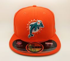MIAMI DOLPHINS NFL ON FIELD NEW ERA 59 FIFTY FITTED HAT CAP (SIZE 7 fc9285ed2