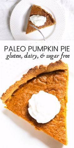 This healthy pumpkin pie is gluten free, dairy free, and refined sugar free. Sugar Free Pumpkin Pie, Low Carb Pumpkin Pie, Healthy Pumpkin Pies, Homemade Pumpkin Puree, Easy Pumpkin Pie, Pumpkin Pie Recipes, Gluten Free Pumpkin, Sugar Free Recipes, Paleo Recipes