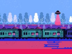 Express Train by Kubra Aslan   Coolerful