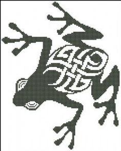 Tribal Frog Graph Crochet, Tunisian Crochet, Filet Crochet, Crochet Patterns, Cross Stitching, Cross Stitch Embroidery, City Of Ember, Irish Step Dancing, Needlecrafts