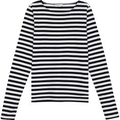 With its feminine form, our MERIDAME top is a reinterpretation of the classic nautical shirt, with scoop collar for relaxed comfort. Made in Saint-James, Normandy, France. Breton Stripe Shirt, Nautical Shirt, Black White Stripes, Black Tops, Clothes, Saint James, Shoulder Tops, Men's Shirts, Cotton Shirts