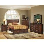 Acme Furniture - Hennessy 5 Piece Bedroom Eastern King Sleigh Bed Set in Brown Cherry - 19448EK-5SET