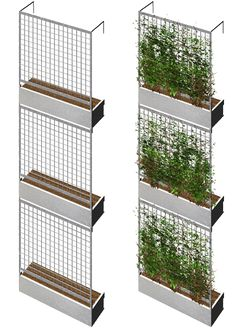 vertical garden balcony Design and construction of a vertical garden In natu. - vertical garden balcony Design and construction of a vertical garden In nature, so-called verti - Green Facade, Brick Facade, Facade House, Balcony Design, Garden Design, Garden Art, Garden Ideas, Garden Tools, Green Architecture