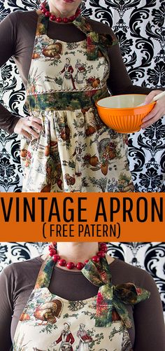 I love this vintage style apron tutorial.  It comes with a free PDF sewing pattern, written and video instructions.  Perfect apron for the holidays or playing hostess. #apronpattern #apronpatternfreeeasy #apronpatternfree #apronsvintage #apronsewingpattern #sewingproject Sewing Hacks, Sewing Tutorials, Sewing Ideas, Sewing Tips, Quilting For Beginners, Sewing Projects For Beginners, Craft Projects For Adults, Fun Projects, Apron Pattern Free