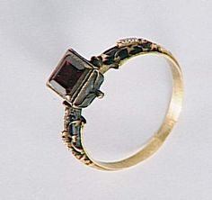 Gold ring with a ruby, Germany, end of the 16th century