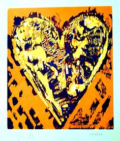 Jim Dine woodcut