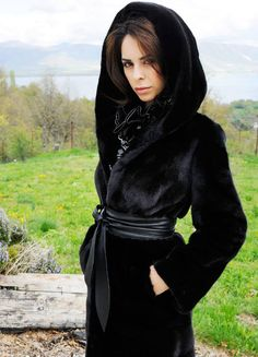 hooded black mink fur coat - I ACTUALLY NEED this in my life as an absolute necessity... YG
