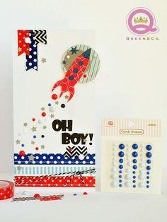 Oh Boy Card #washi #queenco