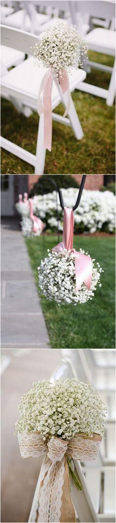 wedding aisle decoration ideas with baby's breath